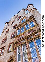建物, hildesheim, tempelhaus, 歴史的, ファサド