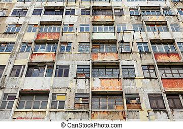 建物, hong, 捨てられた, kong