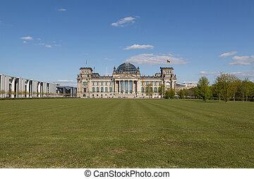 建物, reichstag, ドイツ, ベルリン