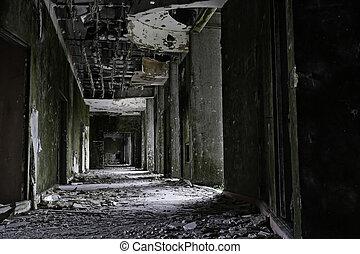 建物, sete, グランジ, 捨てられた, ポルトガル, アゾレス, 島, 台なし, ホテル, creepy, cidades, miguel, sao