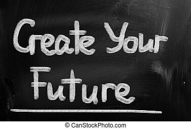 建立, 你, 未來, 概念
