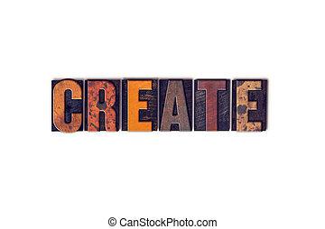 建立, 概念, 被隔离, letterpress, 類型