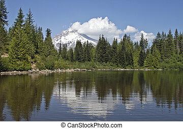 建立, 湖, 敞篷, 鏡子