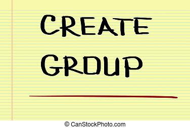 建立, 組, 概念