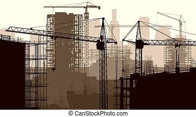 建筑工地, 建筑物。