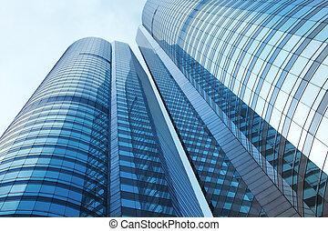 建筑物, 公司, 角度, 低, 察看