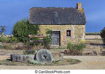 建筑物, 北方, 农场, -, 法国, 乡村