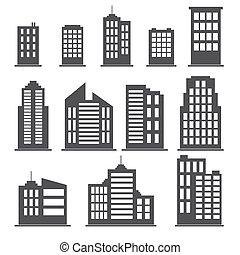 建筑物, 放置, 图标