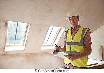 建筑物, 检查员, 看, 新的财产