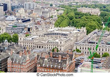 建筑物, 空中, 收入, 习惯, 伦敦, hm, 察看