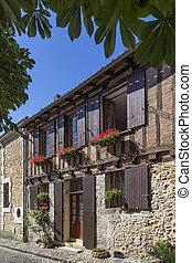 建筑物, 老, 独特, -, dordogne, 法国, bergerac