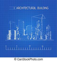 建筑物, 蓝图, 建筑