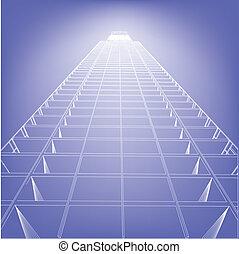 建筑物, 蓝图, 结束, wireframe