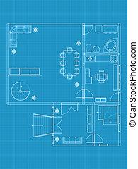 建筑物, 蓝图