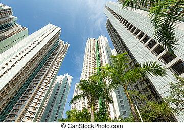 建筑物, 角度, 低