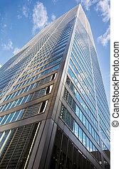 建筑物, 角度, 商业, 低, 高, 射击