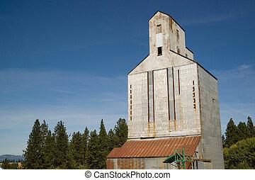 建筑物, commun, 存储, 电梯, 粮食, 农业, 农场, 仓库