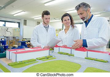 建筑的模型, 建築物, 訓練, 學生