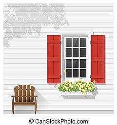 建築である, 窓, 3, 背景, 要素