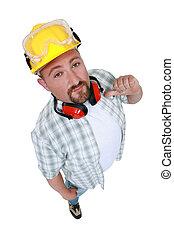 建築作業員, 指摘, 彼自身