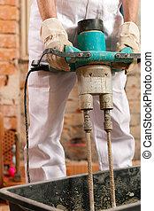 建築作業員, 混合, コンクリート
