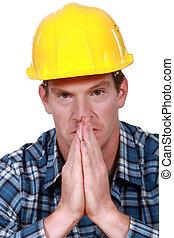 建築作業員, 祈ること