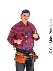 建築作業員, 若い