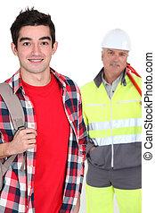 建築作業員, 若者