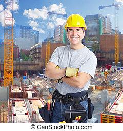 建築作業員, man.