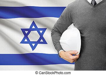 建築家, イスラエル, -, 旗, 背景