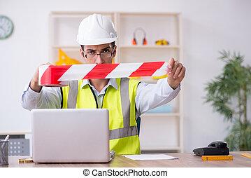 建築家, 仕事, マレ, オフィス, 若い