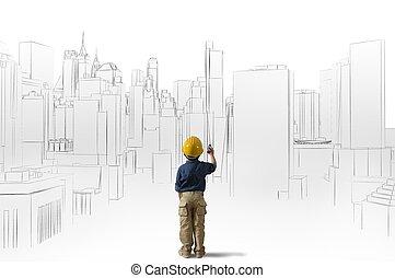 建築家, 若い, 野心