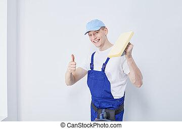 建築工事, 労働者, 若い