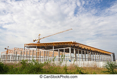 建築工地, 起重機, 建築物