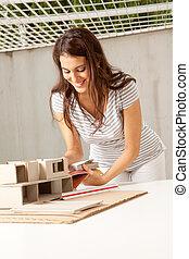 建築師, 年輕, 女性