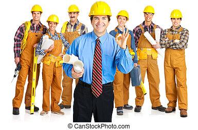 建築業者, 人々