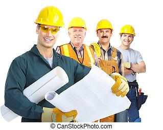 建築業者, 労働者, 人々