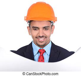 建築物, アジア人, エンジニア