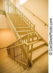 建築物, 出口, 樓梯井, 緊急事件