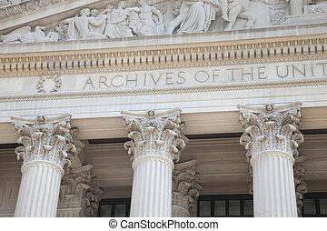 建築物, 國家, 華盛頓特區, 檔案, 正面