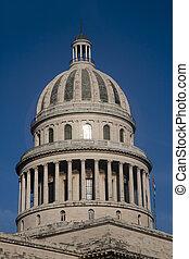 建築物, 圓屋頂, 哈瓦那, 州議會大廈, 古巴