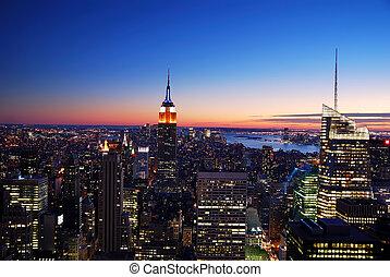 建築物, 城市, 狀態, 約克, 新, 帝國, 曼哈頓