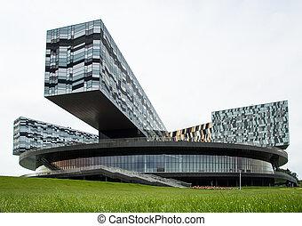 建築物, 城市, 莫斯科, 現代, 玻璃, skolkovo, russia