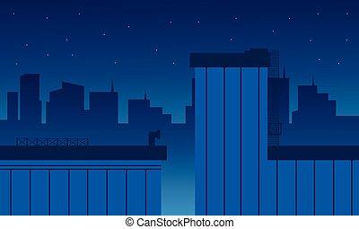 建築物, 套間, 矢量, 風景, 城市