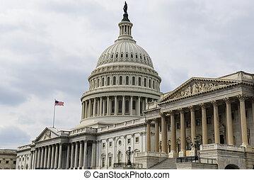 建築物, 小山, 華盛頓 國會大廈, dc