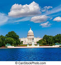 建築物, 州議會大廈, 美國, 華盛頓特區, 陽光