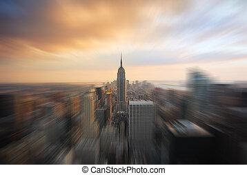 建築物, 帝國, 曼哈頓, 狀態