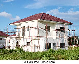 建築物, 新, 家