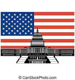 建築物, 旗, 州議會大廈, 我們