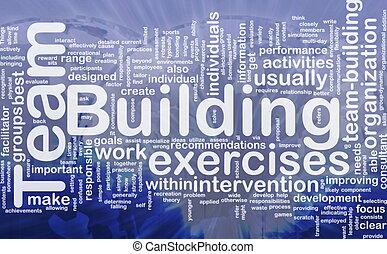 建築物, 概念, 背景, 隊